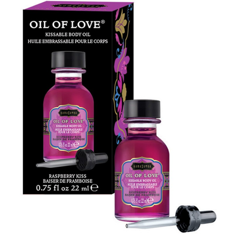 Kama Sutra Oil Of Love  Warming Kissable Massage Oil - Raspberry Kiss 0.75 oz (22 ml)