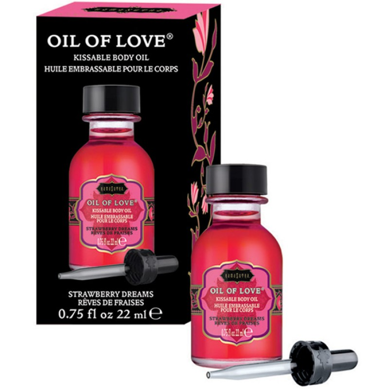 Kama Sutra Oil Of Love  Warming Kissable Massage Oil - Strawberry Dreams 0.75 oz (22 ml)
