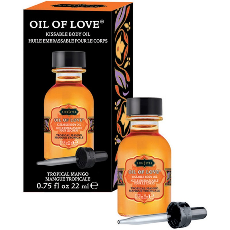 Kama Sutra Oil Of Love  Warming Kissable Massage Oil - Tropical Mango 0.75 oz (22 ml)
