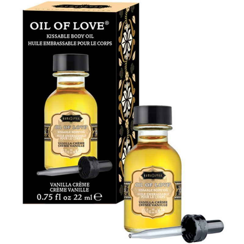 Kama Sutra Oil Of Love  Warming Kissable Massage Oil - Vanilla Creme 0.75 oz (22 ml)