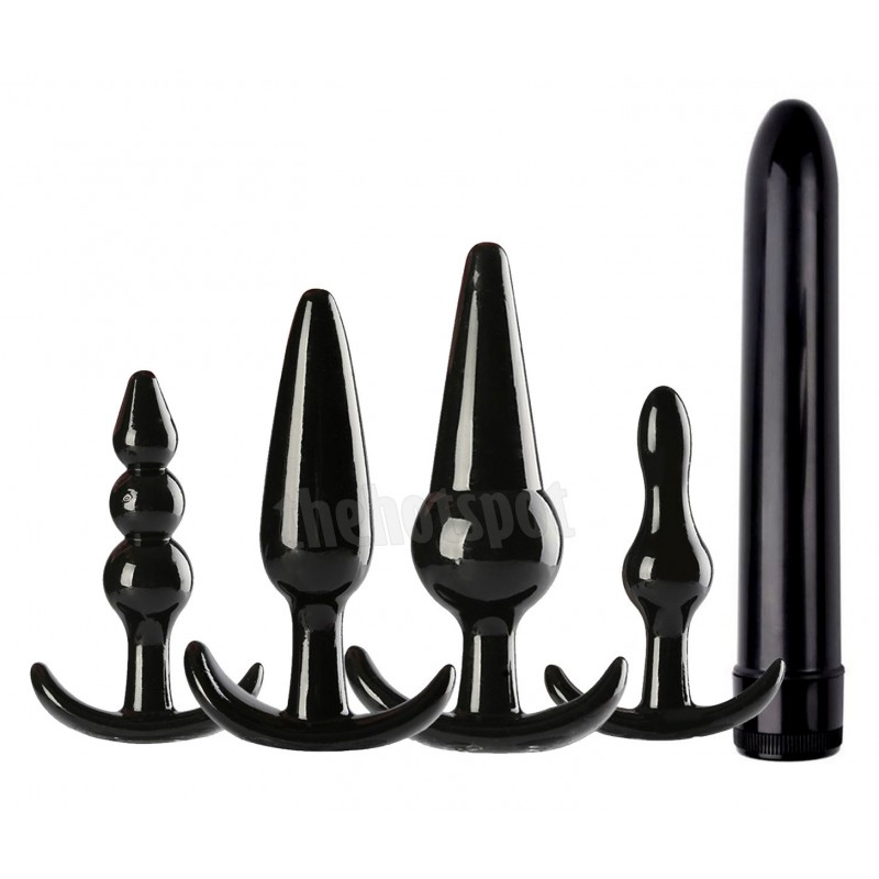 5 Piece Anal Butt Plug Pack