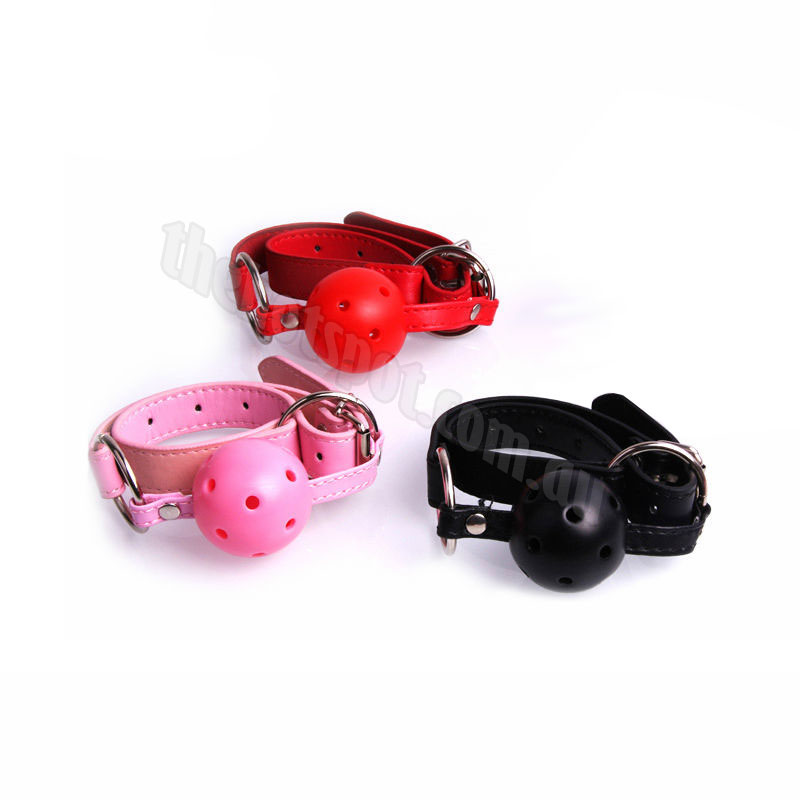 Breathable Bondage Leather Ball Gag
