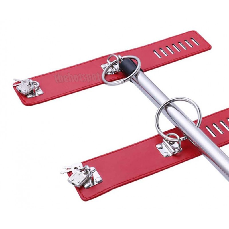 Adora Ankle and Wrist Bar Spreader Bondage Restraint - Red