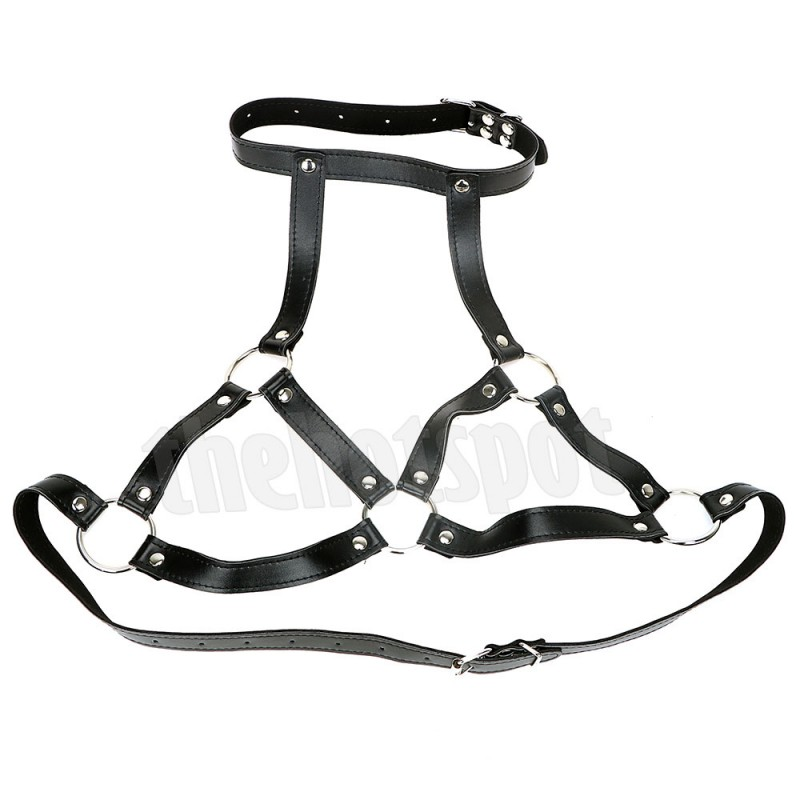 Adora Erotica Bondage Bra + Nipple Clamps + Mouth Gag Ring Set
