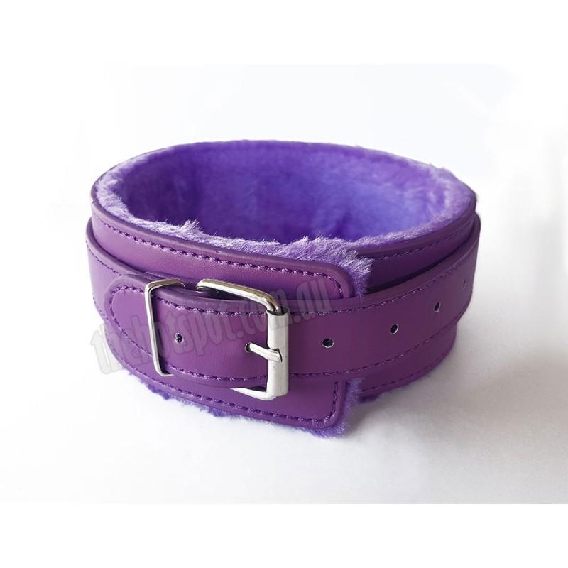 Slap 'N Tickle  Purple Leather Love Kit 14 PCS Bondage Kit