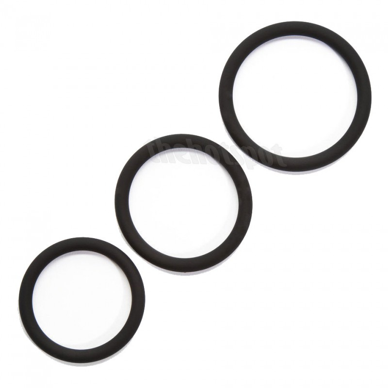 3 X Pack Rubber Cock Rings