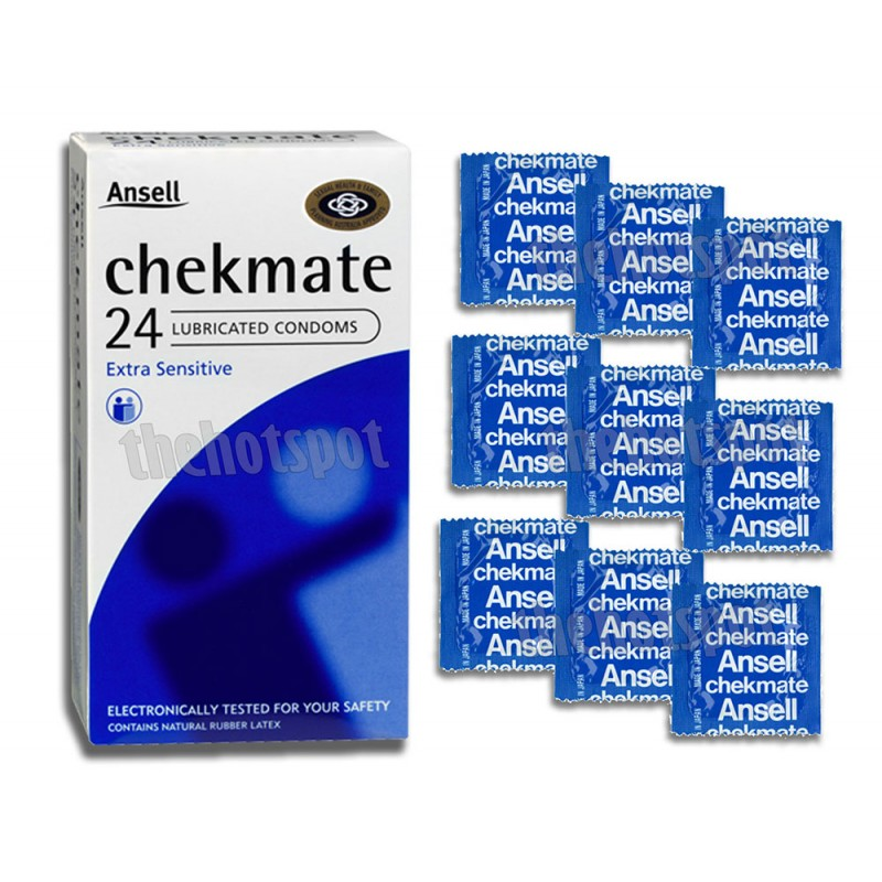 Ansell Chekmate Regular Extra Sensitive Condoms with Lubricant