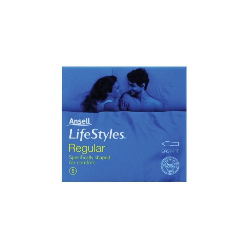 Ansell Lifestyles Regular Condoms 6 Pack