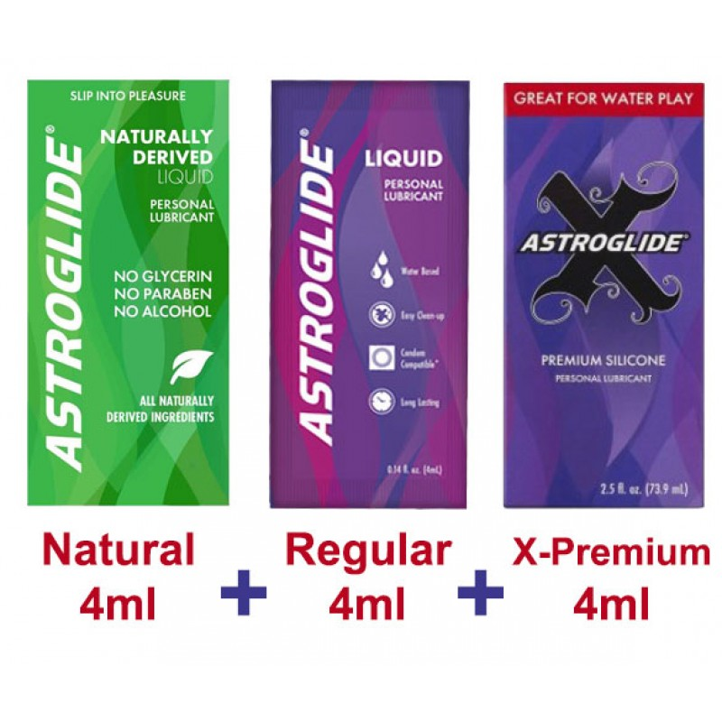 Astroglide Personal Lubricant - 3 Pack - 4ml Sachets