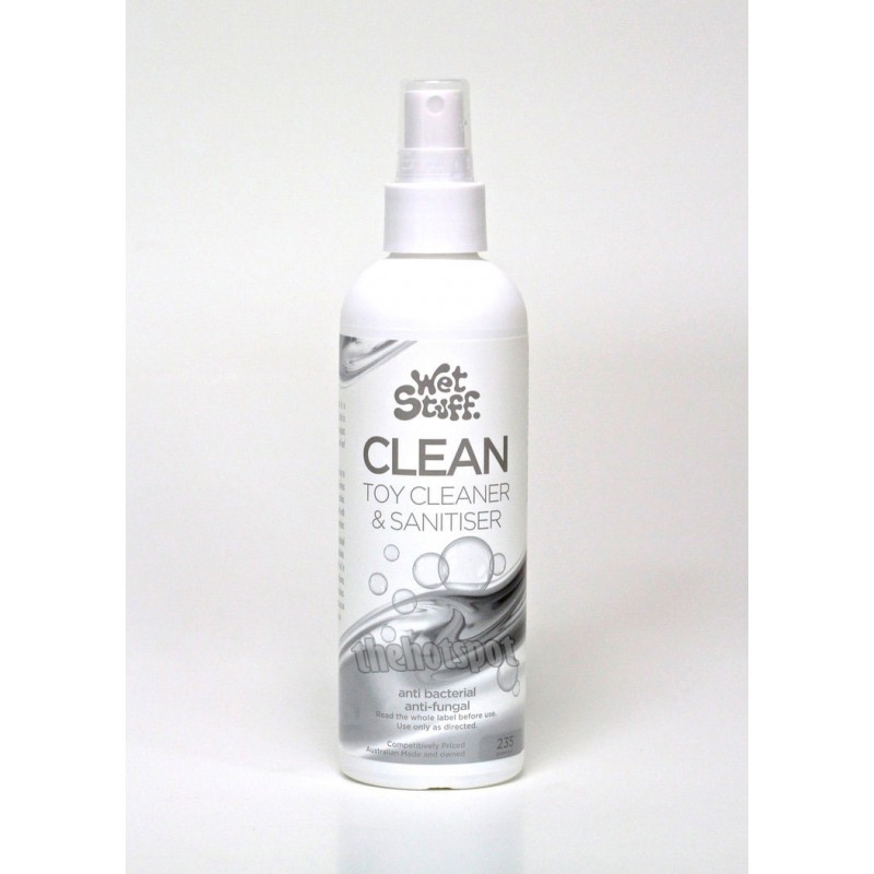 Wet Stuff Clean - 235g Mist Spray Bottle Sex Toy Cleaner