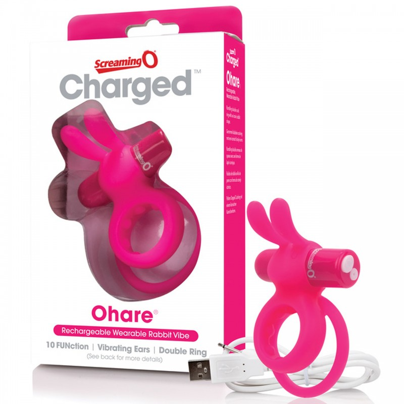 Charged Ohare USB Rechargeable Cock Ring - Pink