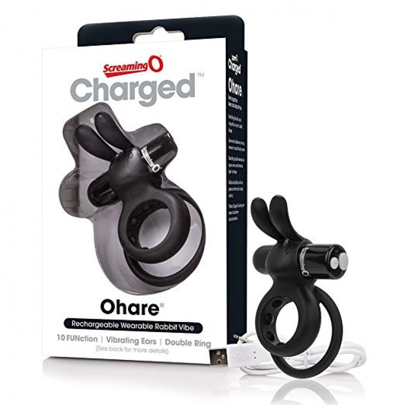 Charged Ohare USB Rechargeable Cock Ring - Black