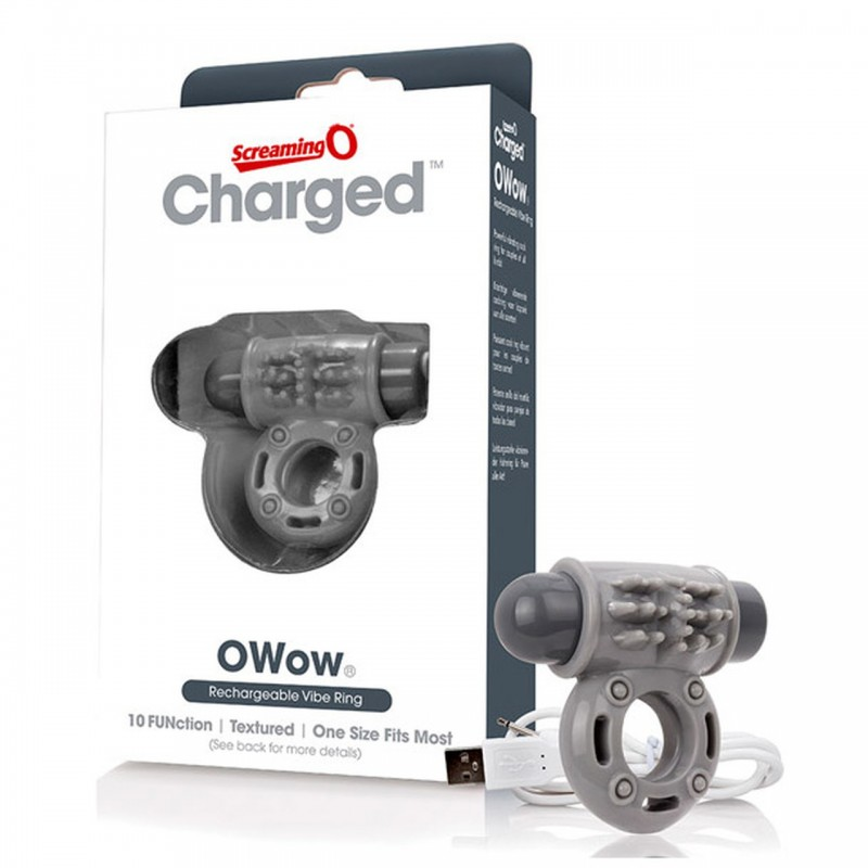 Charged O Wow Vooom Mini Vibe by Screaming O - Grey