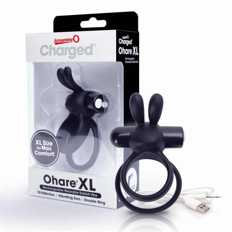 Charged Ohare XL USB Rechargeable Cock Ring - Black