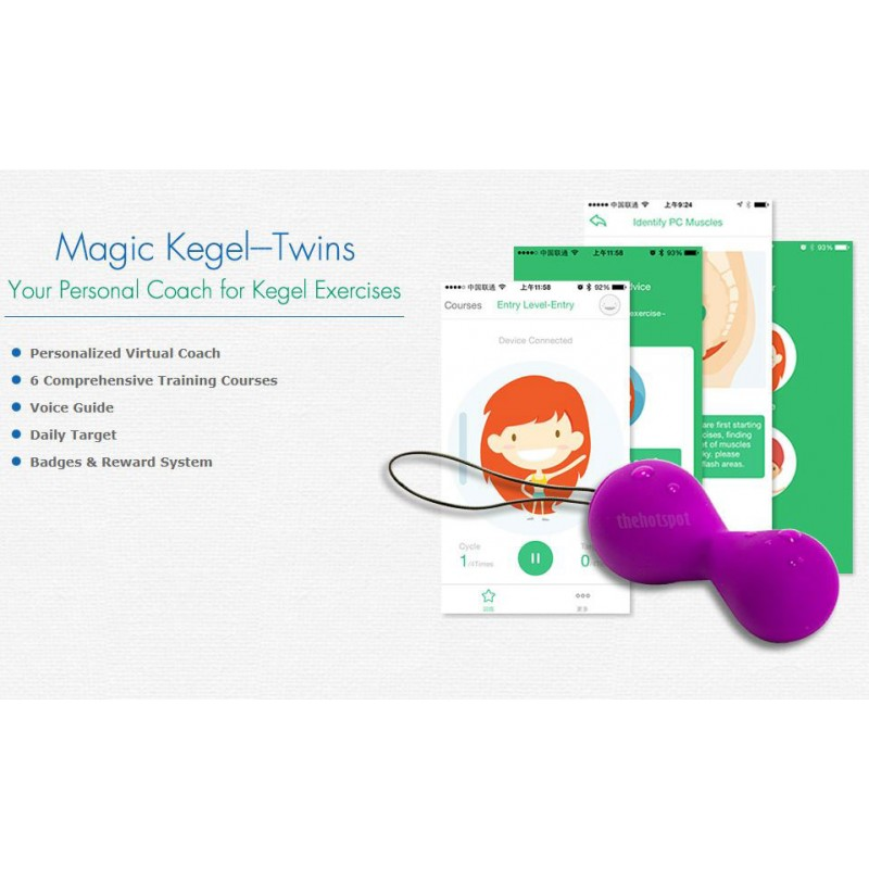 Magic Motion Smart Kegel Ball Twins | Bluetooth App Control