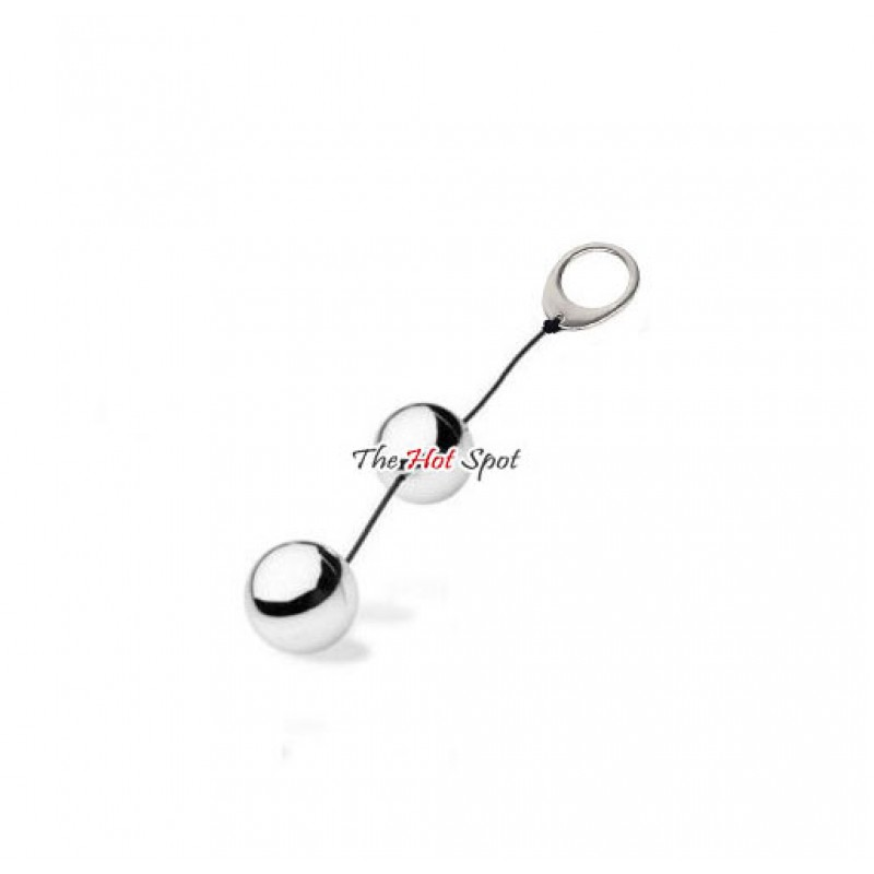 Solid Chrome Metal Kegel Ben Wah Balls - 2 Balls