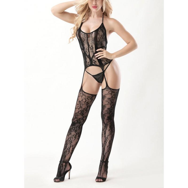 Sexy Super Stretchy Fishnet Lingerie Plus Size Mesh Erotic (XLIR-04-B)