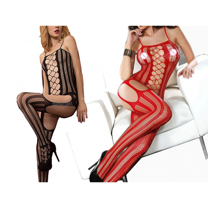 Sexy Super Stretchy Fishnet Lingerie Plus Size Mesh Erotic (XLIR-08)