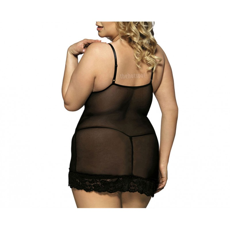Sexy Camisole Lace Lingerie Small to Plus Size Mesh Erotic (XLIR-PS-01)