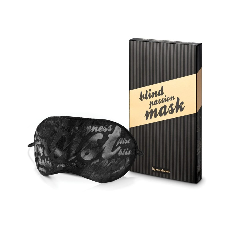 Bijoux Indiscrets Blind Passion Satin Mask, One Size, Black