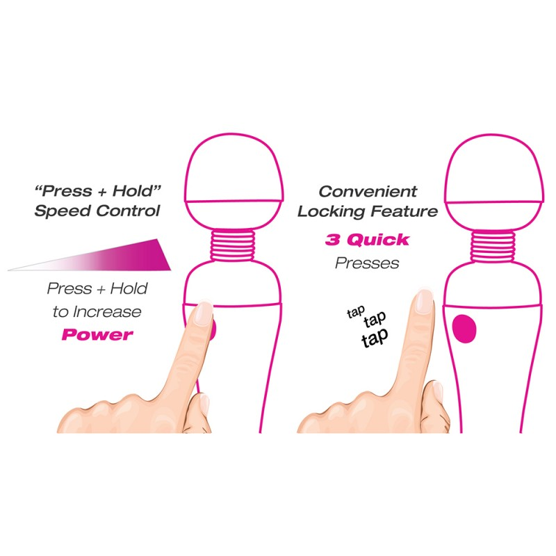BMS Palm Power Recharge Waterproof Personal Massager