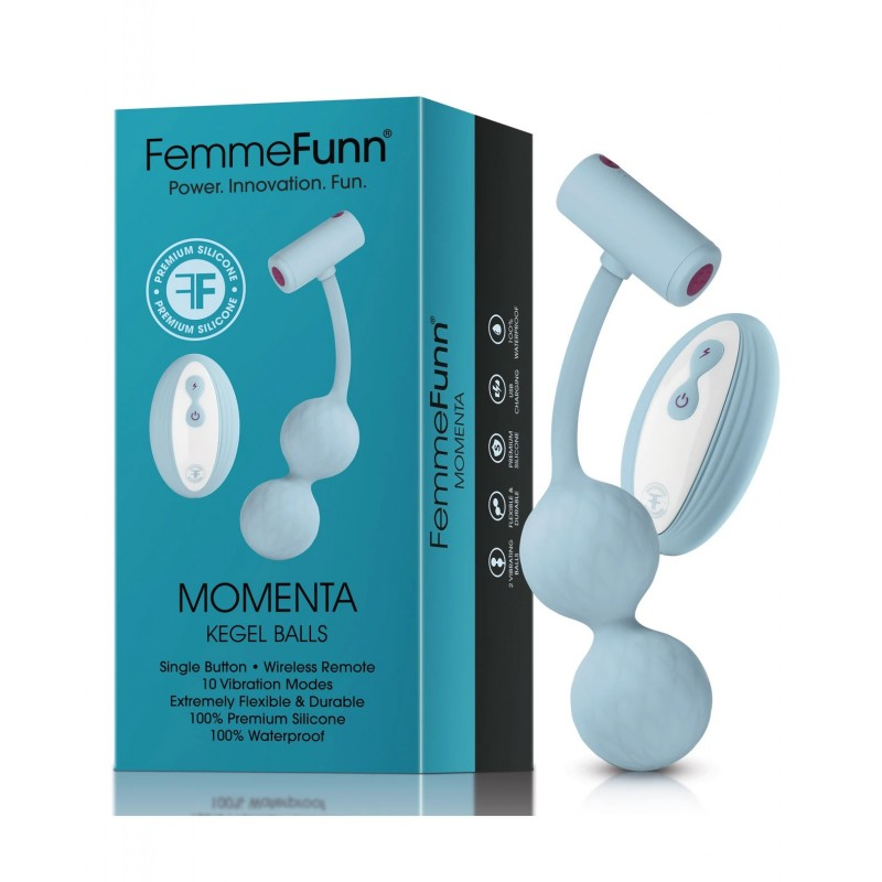 Femme Funn Momenta Kegel Balls - Light Blue