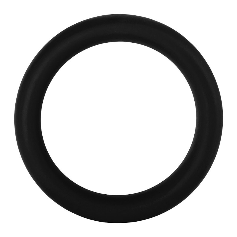 F-64: 50mm 100% Silicone Ring Wide Black - Large
