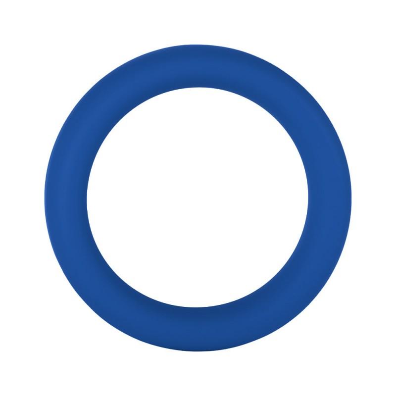 F-64: 50mm 100% Silicone Ring Wide Blue - Medium