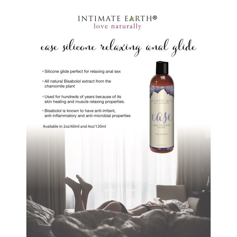 Intimate Earth Ease Relaxing Anal Silicone Glide Lubricant 60ml