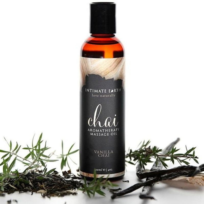 Intimate Earth Chai Aromatherapy Massage Oil 120ml - Vanilla and Chai