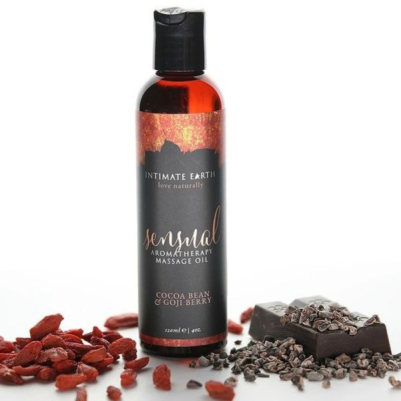 Intimate Earth Sensual Aromatherapy Massage Oil 120ml - Goji Berry & Cocoa Bean