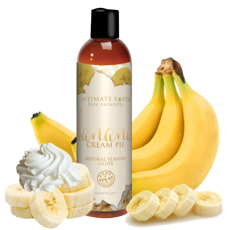 Intimate Earth Banana Cream Pie Water Based Flavoured Lubricant 120ml