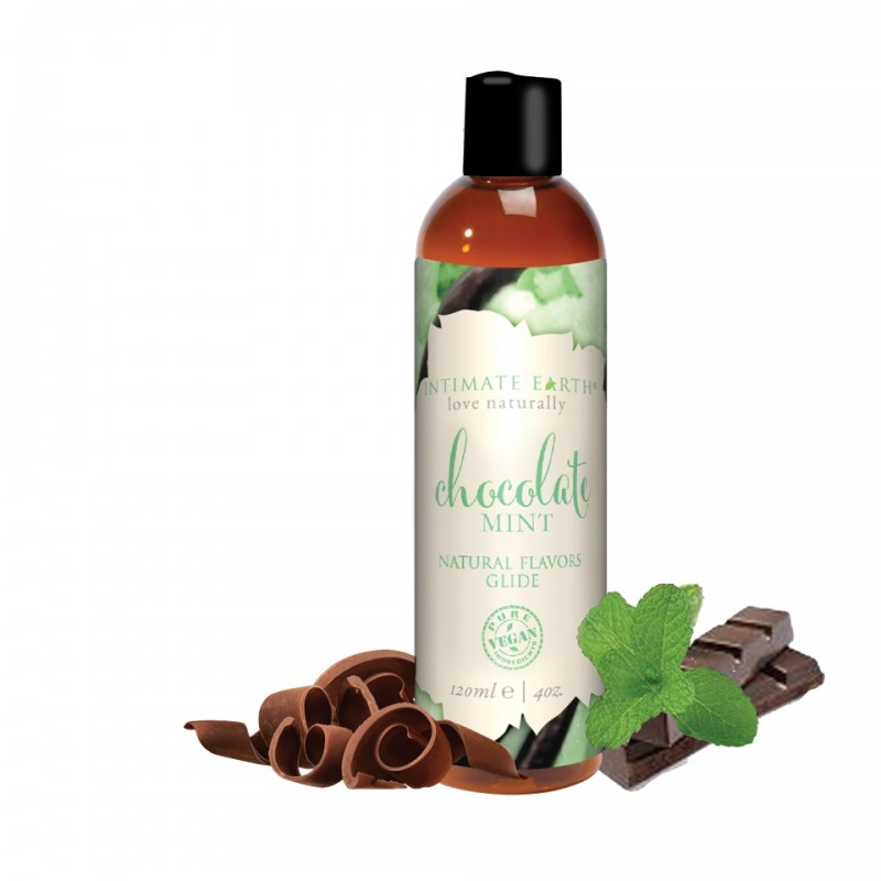 Intimate Earth Chocolate Mint Water Based Flavoured Lubricant 120ml