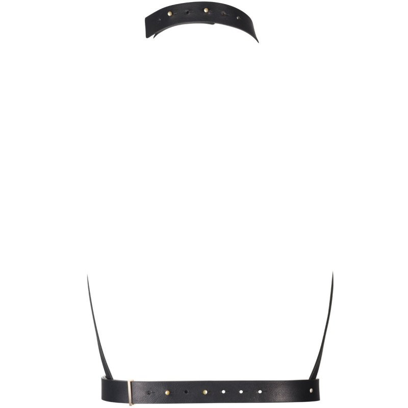 Maze H Harness Black BDSM Corset-Inspired Leather Body Strap