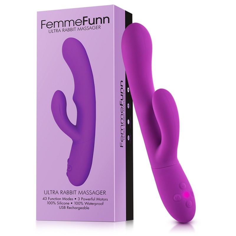Femme Funn Ultra - Rabbit Vibrator & G-Spot Stimulator - Purple