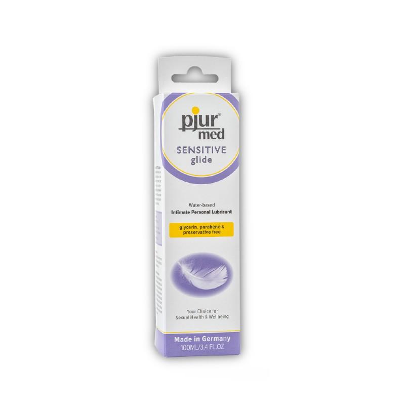 Pjur Med Sensitive Glide Water-Based Intimate Personal Lubricant 100 ml