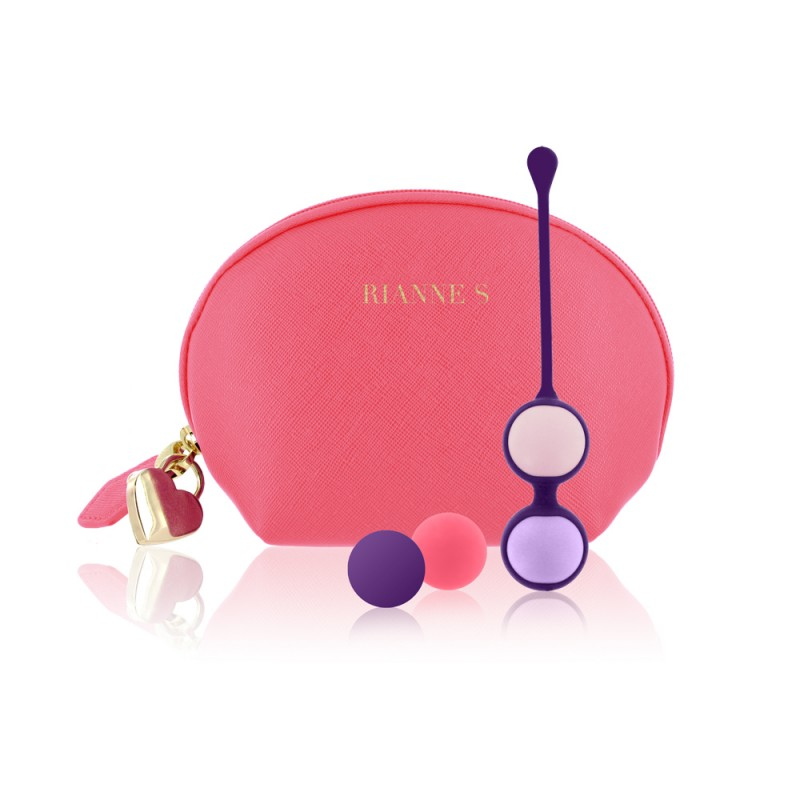 Rianne S Pussy Playballs with Cosmetic Case - Coral Rose