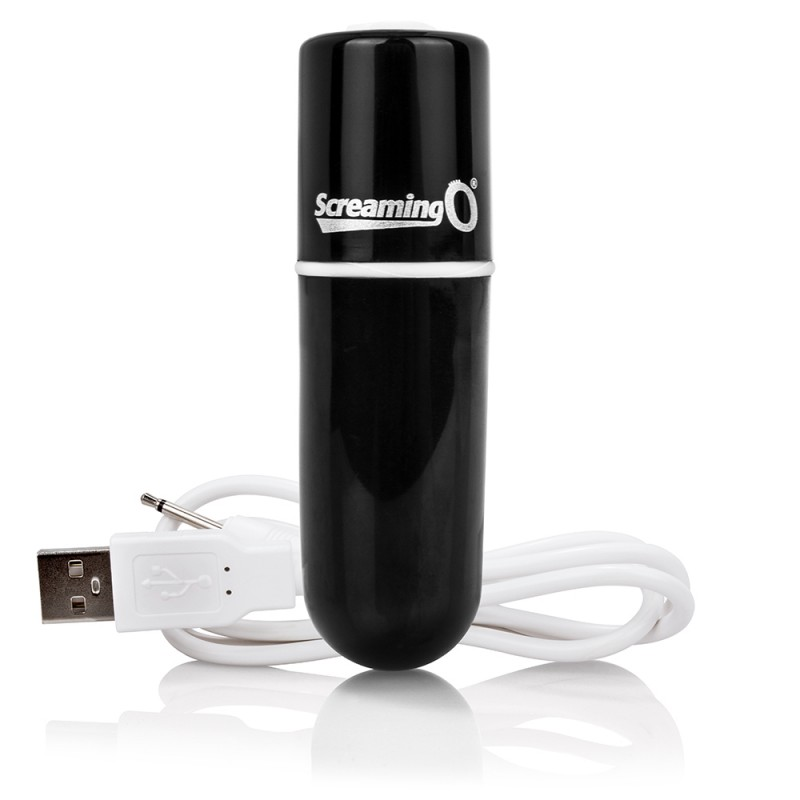 Screaming O Charged Vooom Rechargeable Bullet Vibe - Black