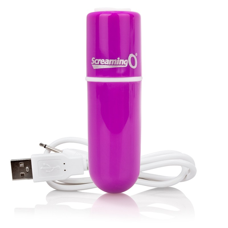 Screaming O Charged Vooom Rechargeable Bullet Vibe - Purple