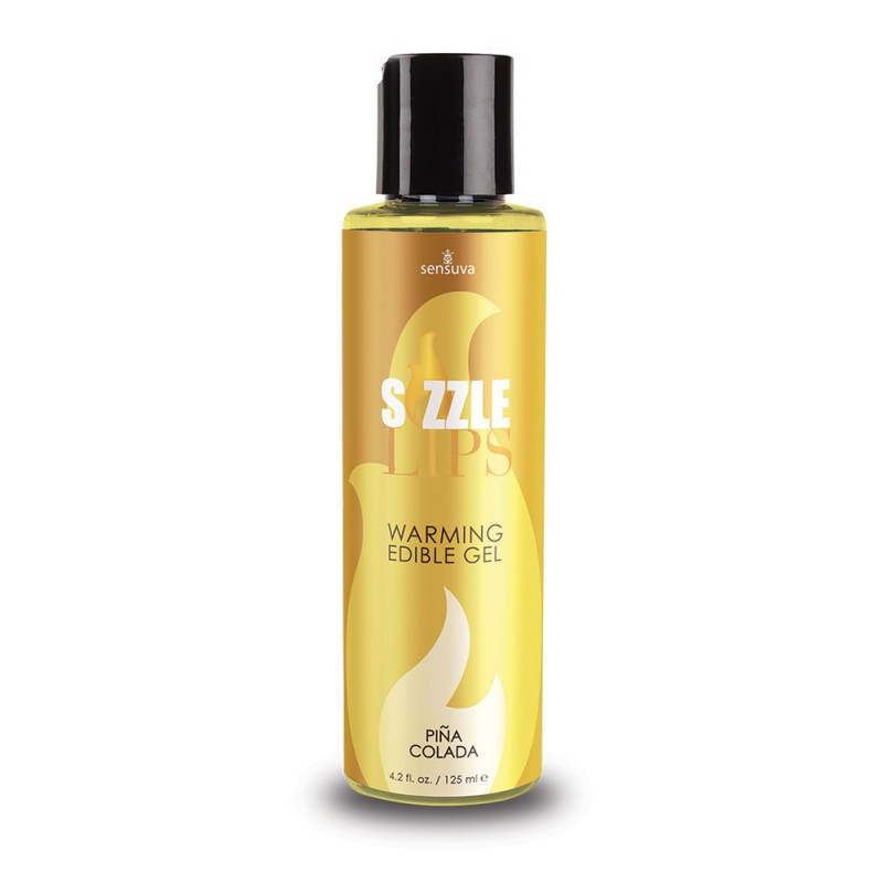 Sensuva - Sizzle Lips Warming Edible Gel Pina Colada - 4.2 oz. (125 ml)