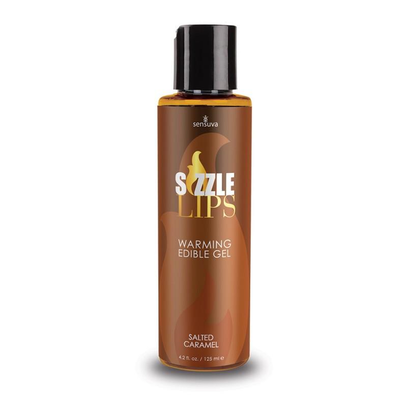 Sensuva - Sizzle Lips Warming Edible Gel Salted Caramel - 4.2 oz. (125 ml)