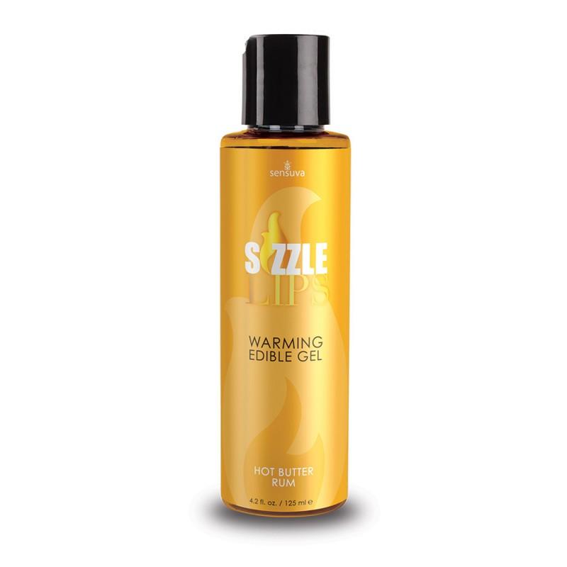 Sensuva - Sizzle Lips Warming Edible Gel Hot Butter Rum - 4.2 oz. (125 ml)