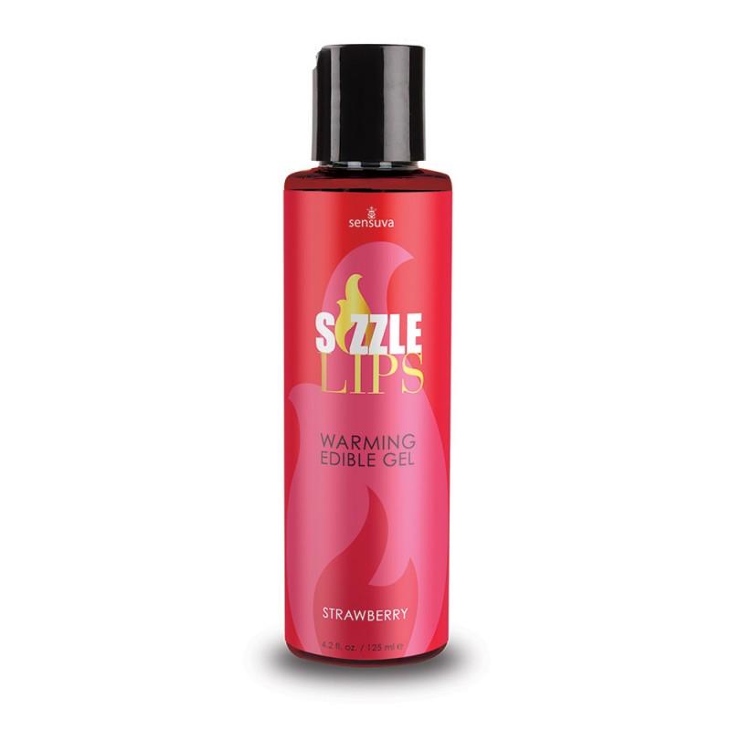 Sensuva - Sizzle Lips Warming Edible Gel Strawberry - 4.2 oz. (125 ml)