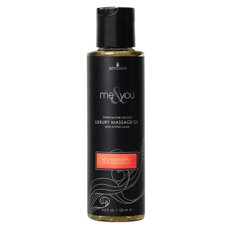 Sensuva Me & You Pheromone Infused Luxury Massage Oil 4.2 oz - Wild Passionfruit & Island Guava
