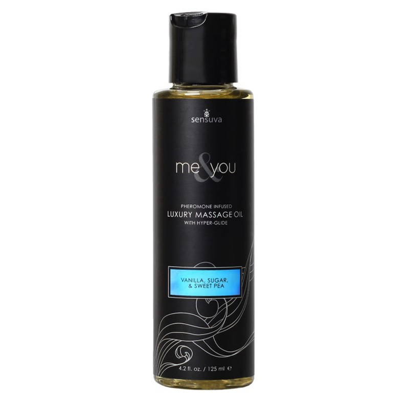 Sensuva Me & You Pheromone Infused Luxury Massage Oil 4.2 oz - Vanilla, Sugar & Sweet Pea