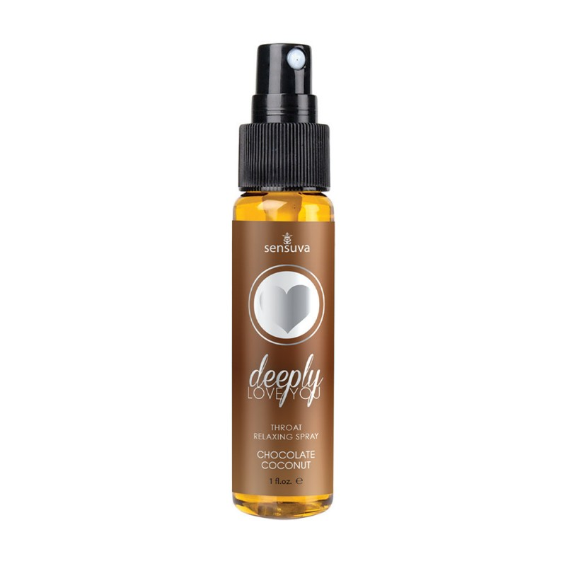Sensuva Deeply Love You Throat Relaxing Spray - Chocolate Coconut 1oz