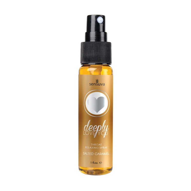 Sensuva Deeply Love You Throat Relaxing Spray - Salted Caramel 1oz