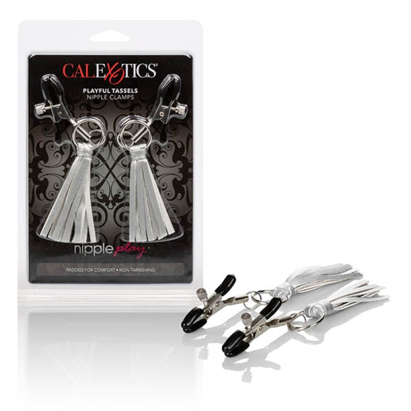 Calexotics Nipple Play Playful Tassels Nipple Clamps - Silver