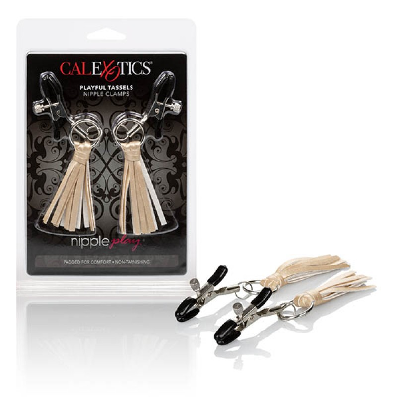 Calexotics Nipple Play Playful Tassels Nipple Clamps - Gold