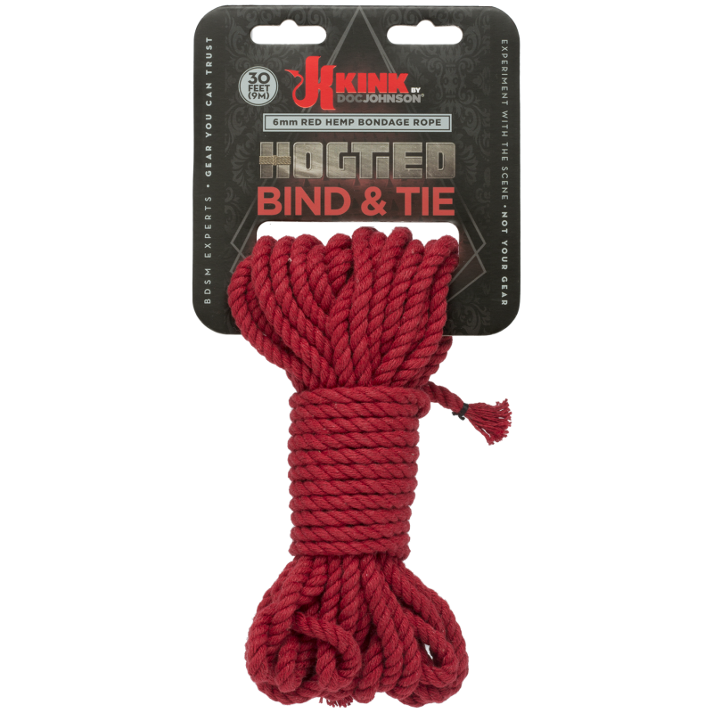 KINK Hogtied Bind & Tie 6mm – 9 Metres Red
